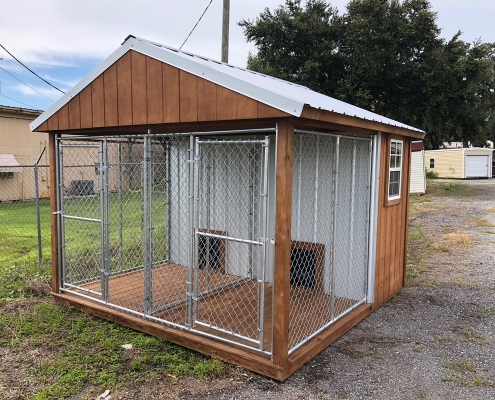 Nice Dog Kennel with Chain Walls and Doors