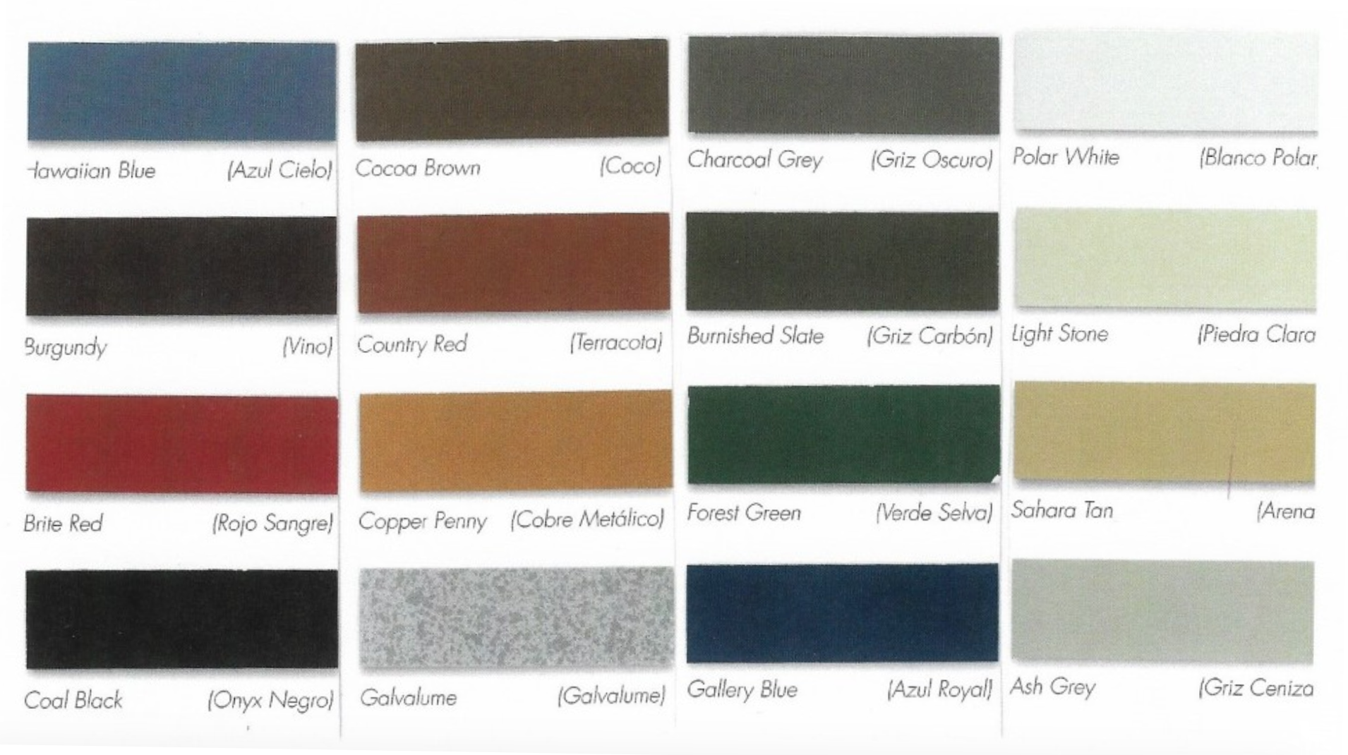 Various Roof Color Options for a Gazebo